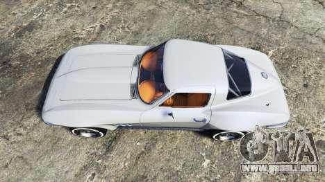 GTA 5 Chevrolet Corvette Sting Ray (C2) [replace] vista trasera