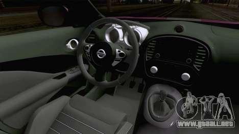Nissan Juke Nismo RS 2014 para visión interna GTA San Andreas