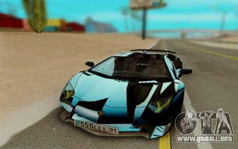 Lamborghini Aventador SV 2015 para GTA San Andreas left