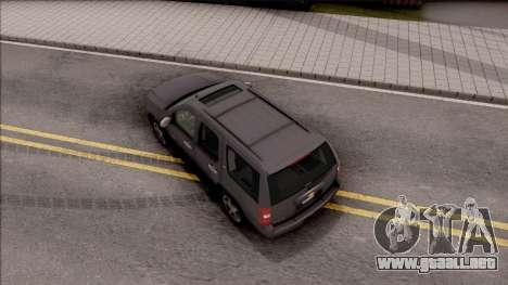 Chevrolet Tahoe LTZ 2008 IVF para GTA San Andreas vista hacia atrás