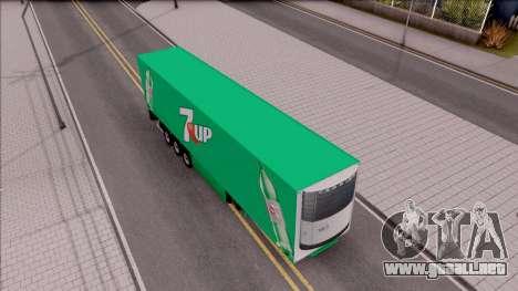 Remolque 7up para GTA San Andreas vista posterior izquierda
