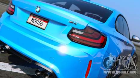 GTA 5 BMW M2 2016 vista lateral izquierda