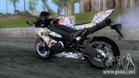 Kawasaki Ninja ZX-6R BoomCustom para la visión correcta GTA San Andreas