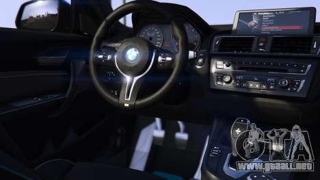 GTA 5 BMW M2 2016 vista lateral izquierda trasera