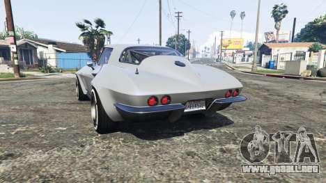 GTA 5 Chevrolet Corvette Sting Ray (C2) [replace] vista lateral izquierda trasera