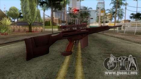 PSG1 Sniper Rifle para GTA San Andreas segunda pantalla
