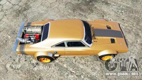 GTA 5 Dodge Charger Fast & Furious 8 [add-on] vista trasera