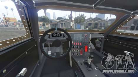 GTA 5 Dodge Charger Fast & Furious 8 [add-on] vista lateral trasera derecha