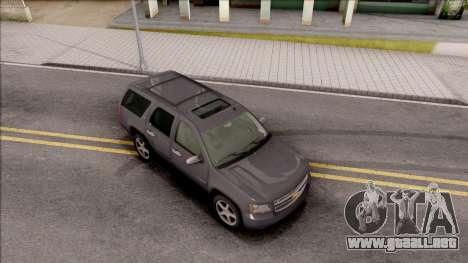 Chevrolet Tahoe LTZ 2008 IVF para la visión correcta GTA San Andreas
