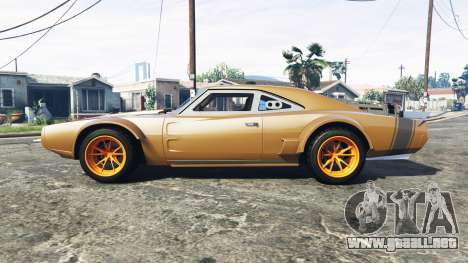 GTA 5 Dodge Charger Fast & Furious 8 [add-on] vista lateral izquierda