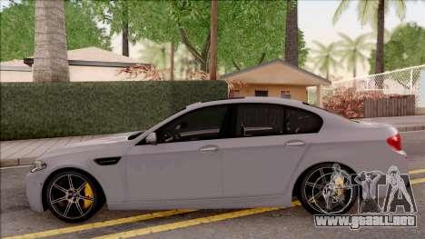 BMW M5 F10 30 Jahre para GTA San Andreas left