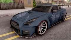Nissan GT-R Nismo 2017 DDK para GTA San Andreas