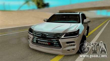 Lexus Lx570 KHAN III para GTA San Andreas