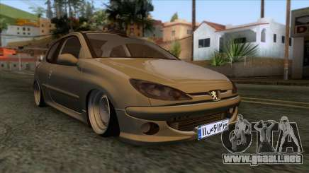 Peugeot 206 Full Sport Edit para GTA San Andreas