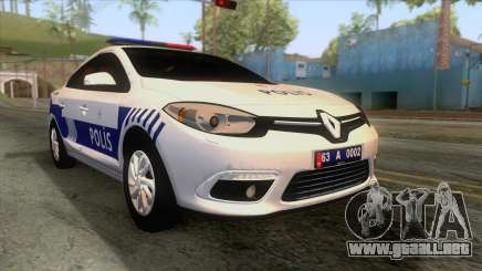 Renault Fluence Turkish Police Car para GTA San Andreas