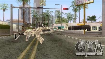 CoD: Black Ops II - AK-47 Benjamin Skin v2 para GTA San Andreas