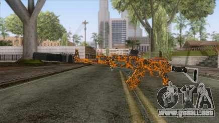 CoD: Black Ops II - AK-47 Lava Skin v2 para GTA San Andreas