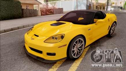 Chevrolet Corvette ZR1 C6 2009 para GTA San Andreas