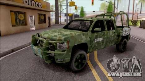 Chevrolet Silverado Auto Militar De Guatemala para GTA San Andreas