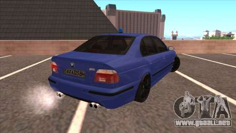 BMW E39 M5 para GTA San Andreas left