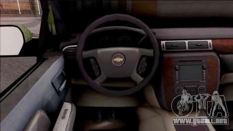 Chevrolet Silverado Auto Militar De Guatemala para visión interna GTA San Andreas