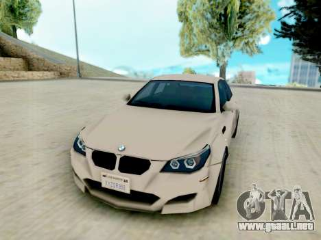 BMW M5 E60 Lumma Edition para GTA San Andreas vista hacia atrás