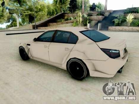 BMW M5 E60 Lumma Edition para GTA San Andreas vista posterior izquierda