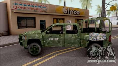 Chevrolet Silverado Auto Militar De Guatemala para GTA San Andreas left