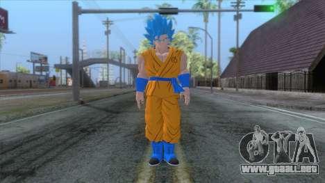 Goku SSJ2 Blue Skin para GTA San Andreas segunda pantalla