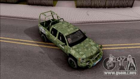 Chevrolet Silverado Auto Militar De Guatemala para la visión correcta GTA San Andreas