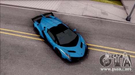 Lamborghini Veneno Roadster para la visión correcta GTA San Andreas