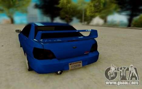 Subaru WRX STi 2005 para la visión correcta GTA San Andreas