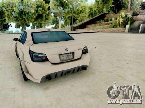 BMW M5 E60 Lumma Edition para la visión correcta GTA San Andreas