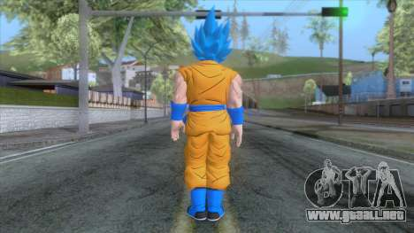 Goku SSJ2 Blue Skin para GTA San Andreas tercera pantalla