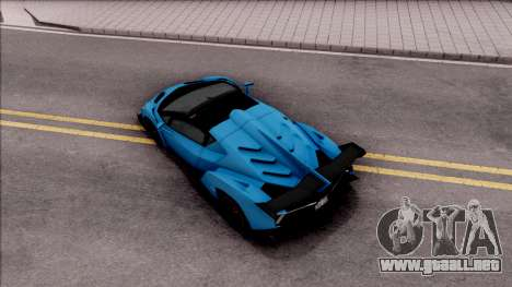 Lamborghini Veneno Roadster para GTA San Andreas vista hacia atrás