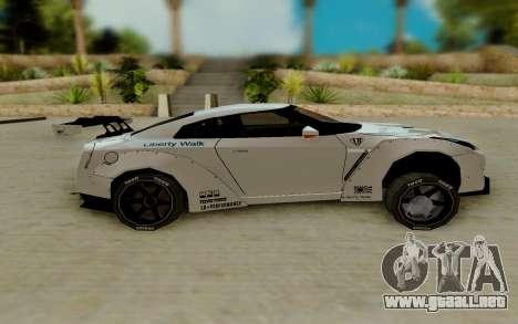 Nissan GTR R35 para GTA San Andreas left