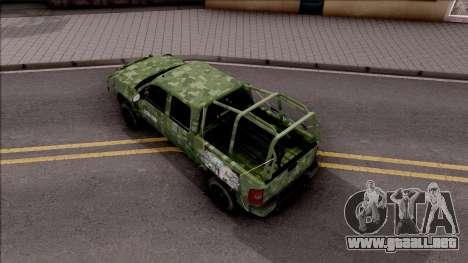 Chevrolet Silverado Auto Militar De Guatemala para GTA San Andreas vista hacia atrás