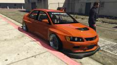 Mitsubishi Lancer Evolution IX Clinched para GTA 5