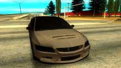 Mitsubishi Lancer Evolution 8 de plata para GTA San Andreas