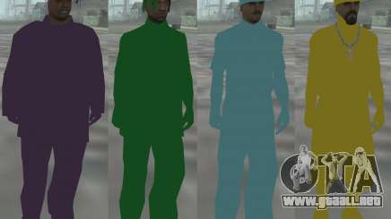 Color Gueto Skin Pack para GTA San Andreas