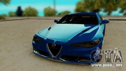 Alfa Romeo Giulia para GTA San Andreas