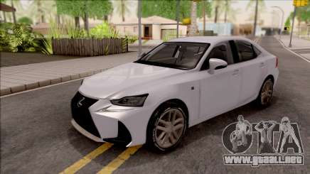 Lexus IS XE30 200t F Sport 2017 para GTA San Andreas