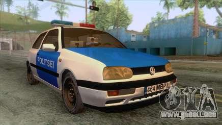 Volkswagen Golf Mk3 Estonian Police para GTA San Andreas