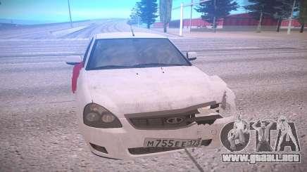 VAZ 2170 blanco para GTA San Andreas