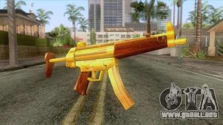 Gold MP5 para GTA San Andreas