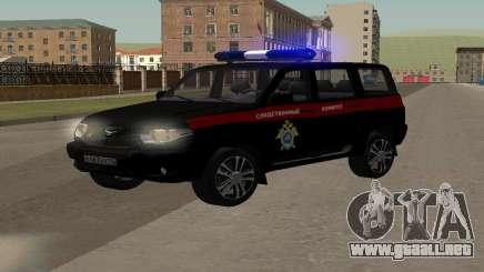 UAZ Patriot (Restyling ll), el Comité de Investigación para GTA San Andreas