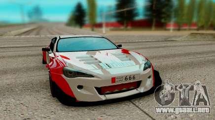 Subaru BRZ rojo para GTA San Andreas