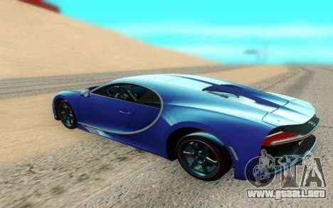 Bugatti Chiron para GTA San Andreas vista posterior izquierda