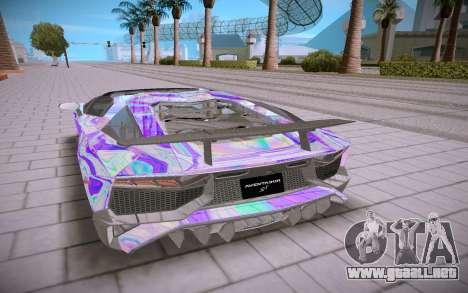 Lamborghini Aventador SV Roadster para GTA San Andreas