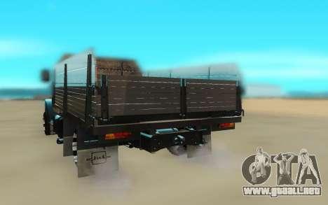 ZIL 4331 para GTA San Andreas vista hacia atrás